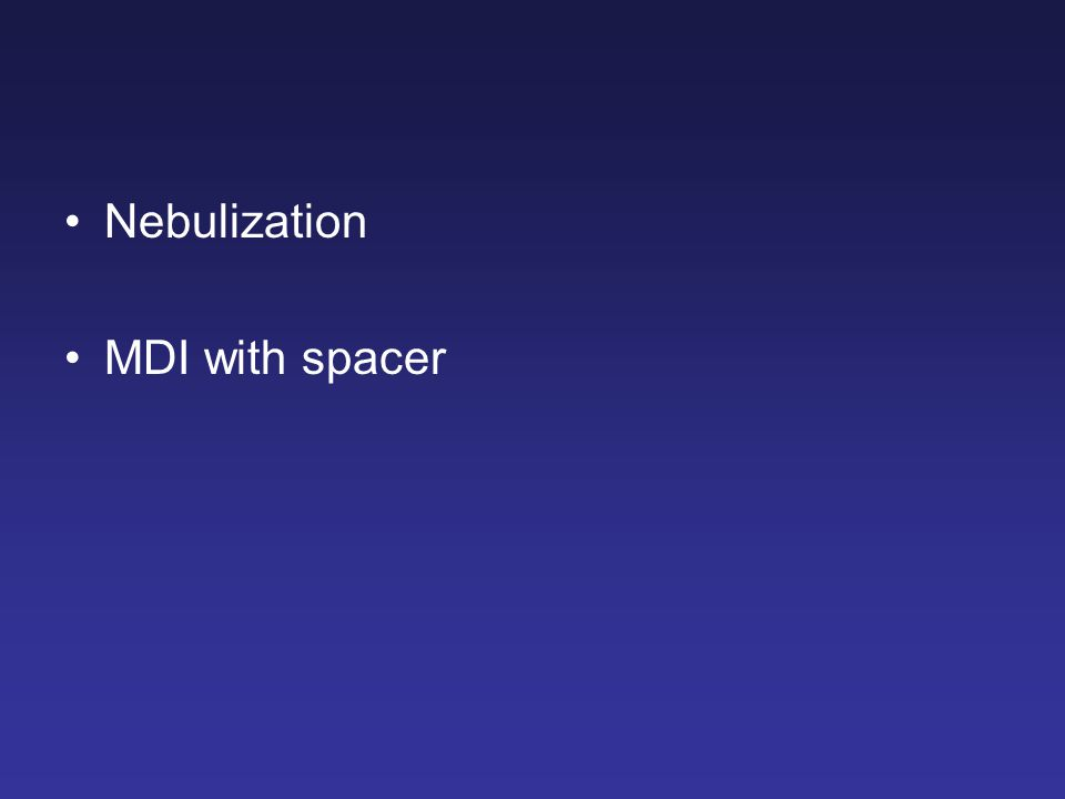 Nebulization MDI with spacer