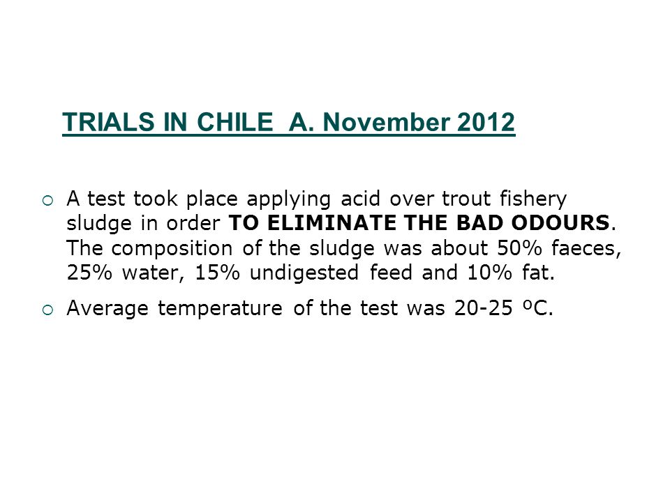 TRIALS IN CHILE A.
