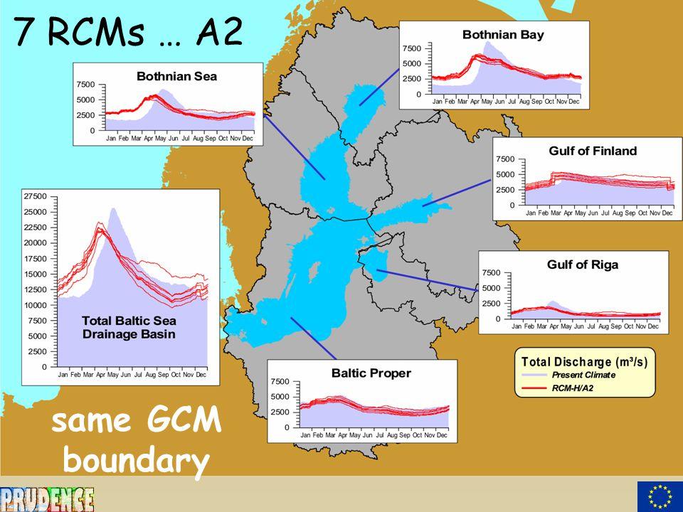 7 RCMs … A2 same GCM boundary