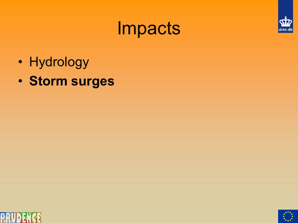 Impacts Hydrology Storm surges