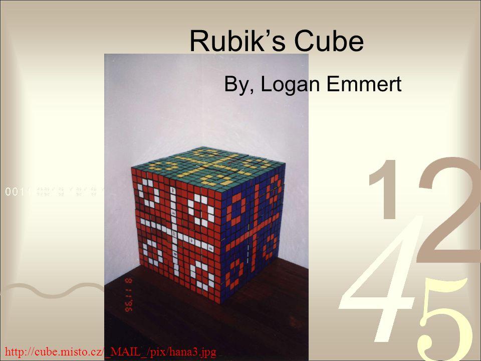 Rubik's Cube By, Logan Emmert http://cube.misto.cz/_MAIL_/pix/hana3.jpg