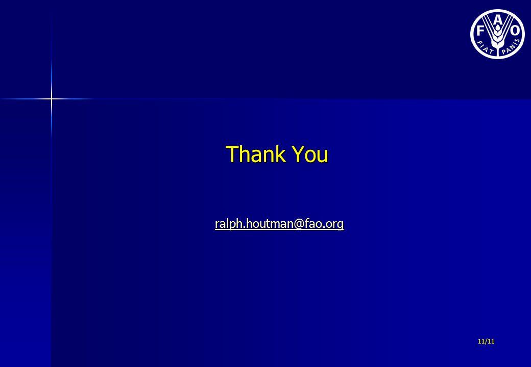 11/11 Thank You Thank You ralph.houtman@fao.org