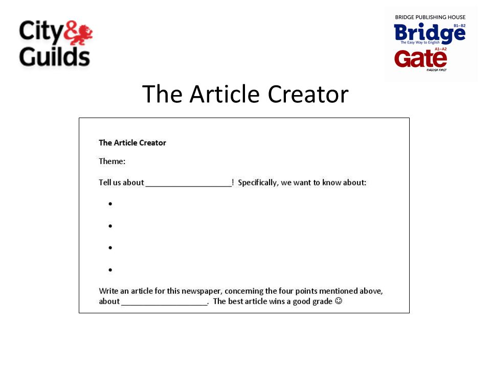 The Article Creator