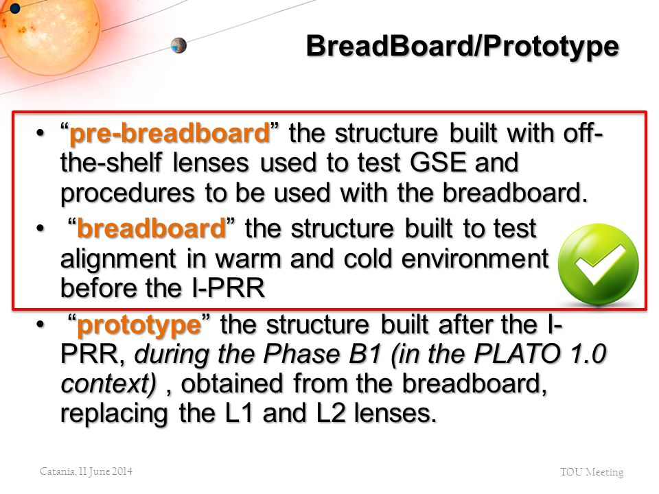 """""""pre-breadboard"""" the structure built with off- the-shelf lenses used to test GSE and procedures to be used with the breadboard.""""pre-breadboard"""" the st"""