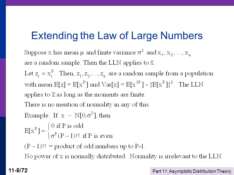 Part 11: Asymptotic Distribution Theory 11-49/72 Krinsky and Robb