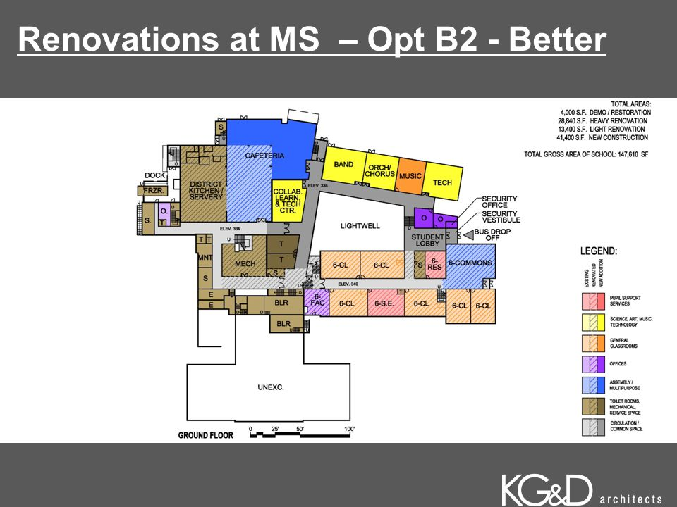 Renovations at MS – Opt B2 - Better