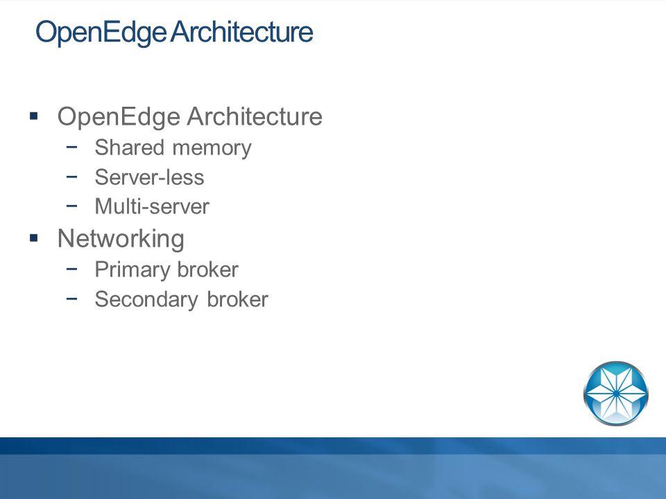 7 OpenEdge Memory Architecture