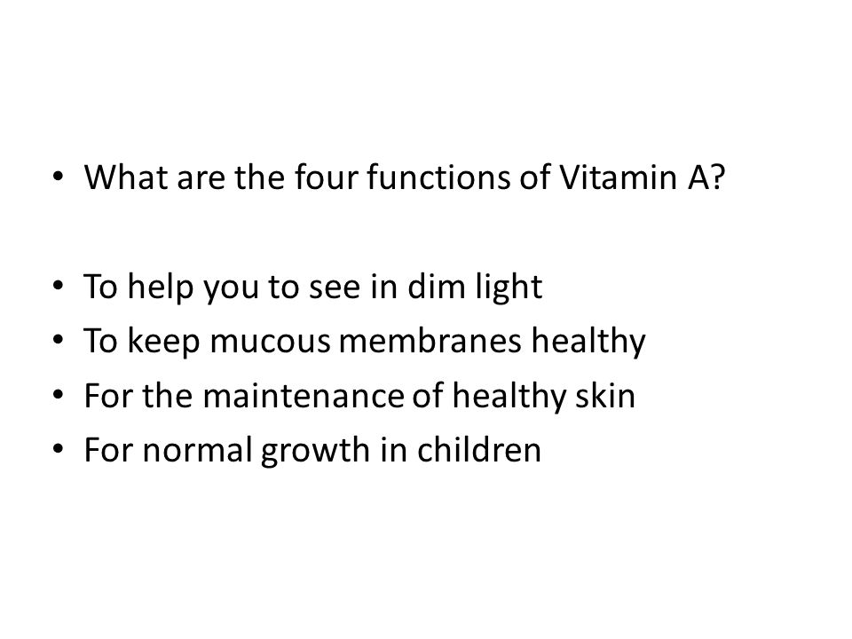 What are the 5 functions of vitamin C.
