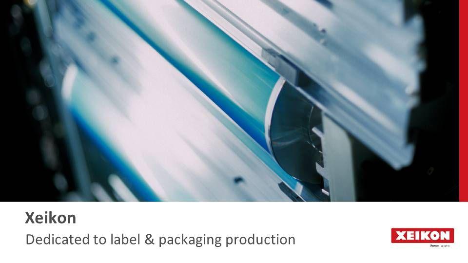 Full rotary - Image on web, no frame Productivity: Xeikon's full rotary principle Semi rotary - Image on frame