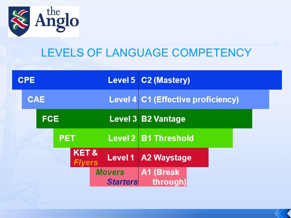  You need a good level of English to teach the language: minimum B2 on the Common European Framework.
