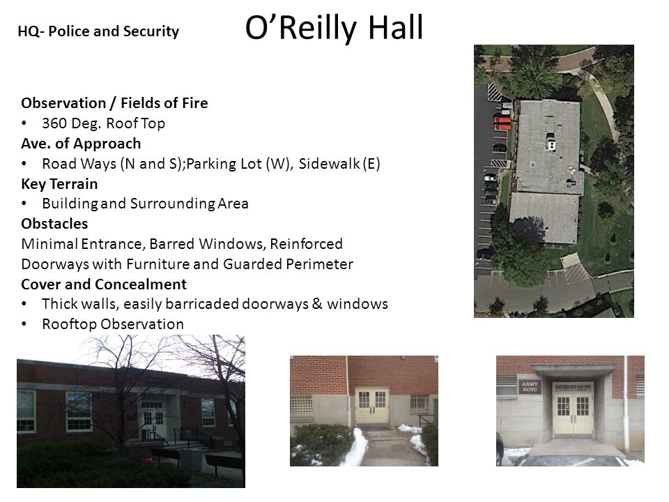 O'Reilly Hall Observation / Fields of Fire 360 Deg.