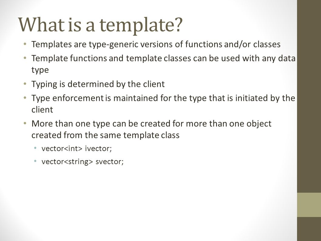 What is a template.