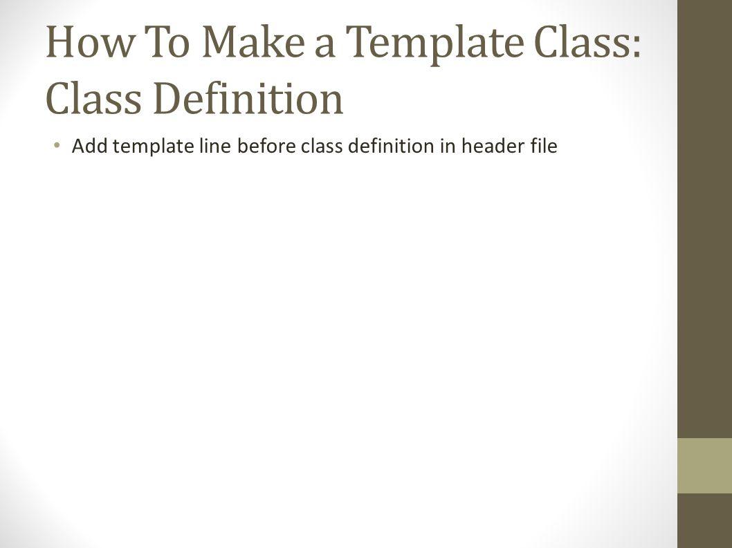 Template versus Typedef class bag { public: typedef int value_type;... }