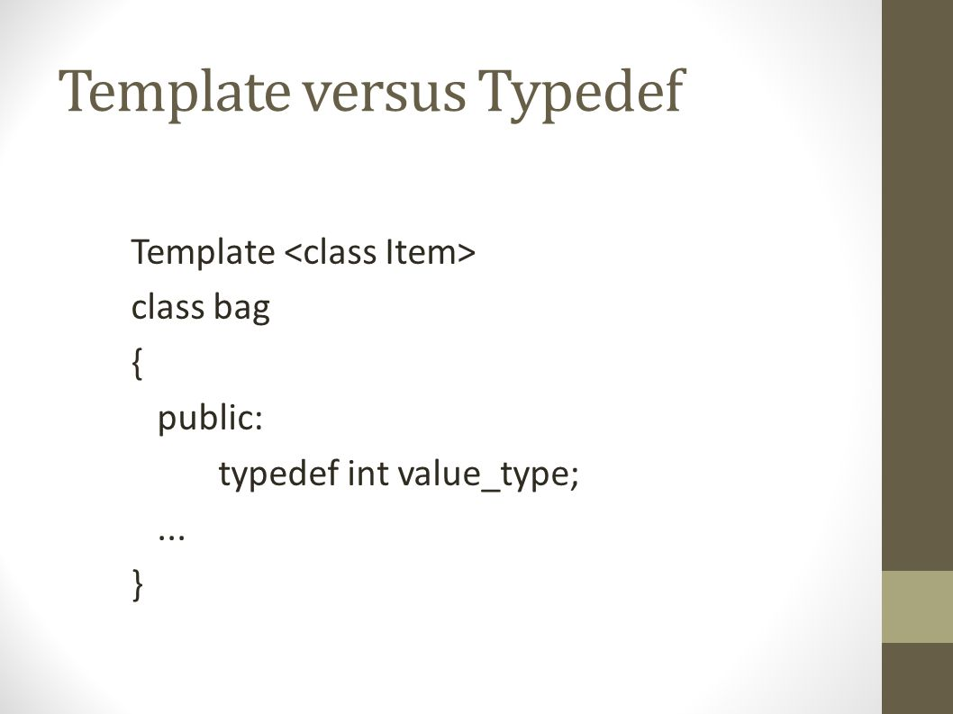 How To Make a Template Class: Functions Use class name as usual within class definition in header file Outside of class definition, tack onto the name of your class.