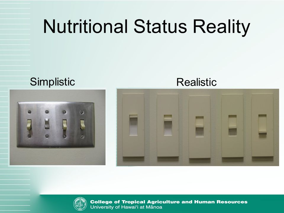 Nutritional Status Reality Simplistic Realistic