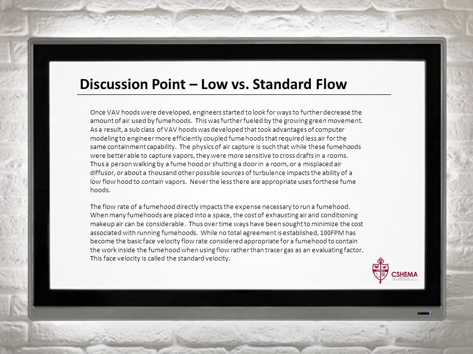 Discussion Point – Low vs.