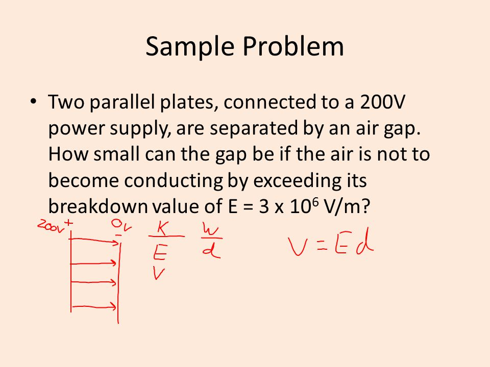Sample Problem Three point charges are arranged in the following manner.