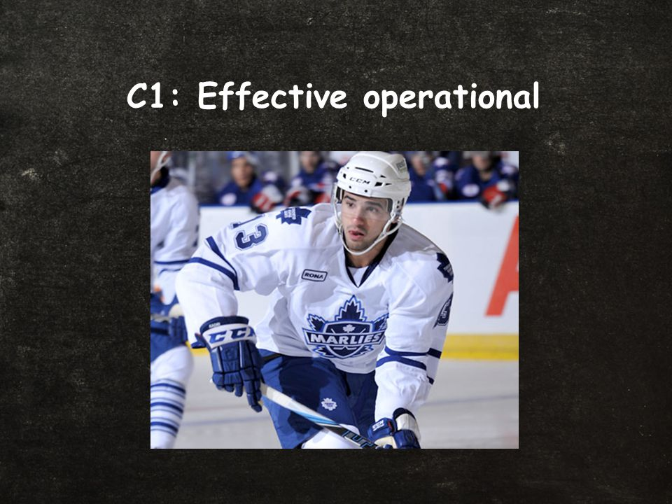 C1: Effective operational