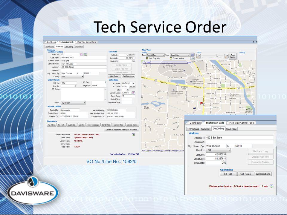 Tech Service Order