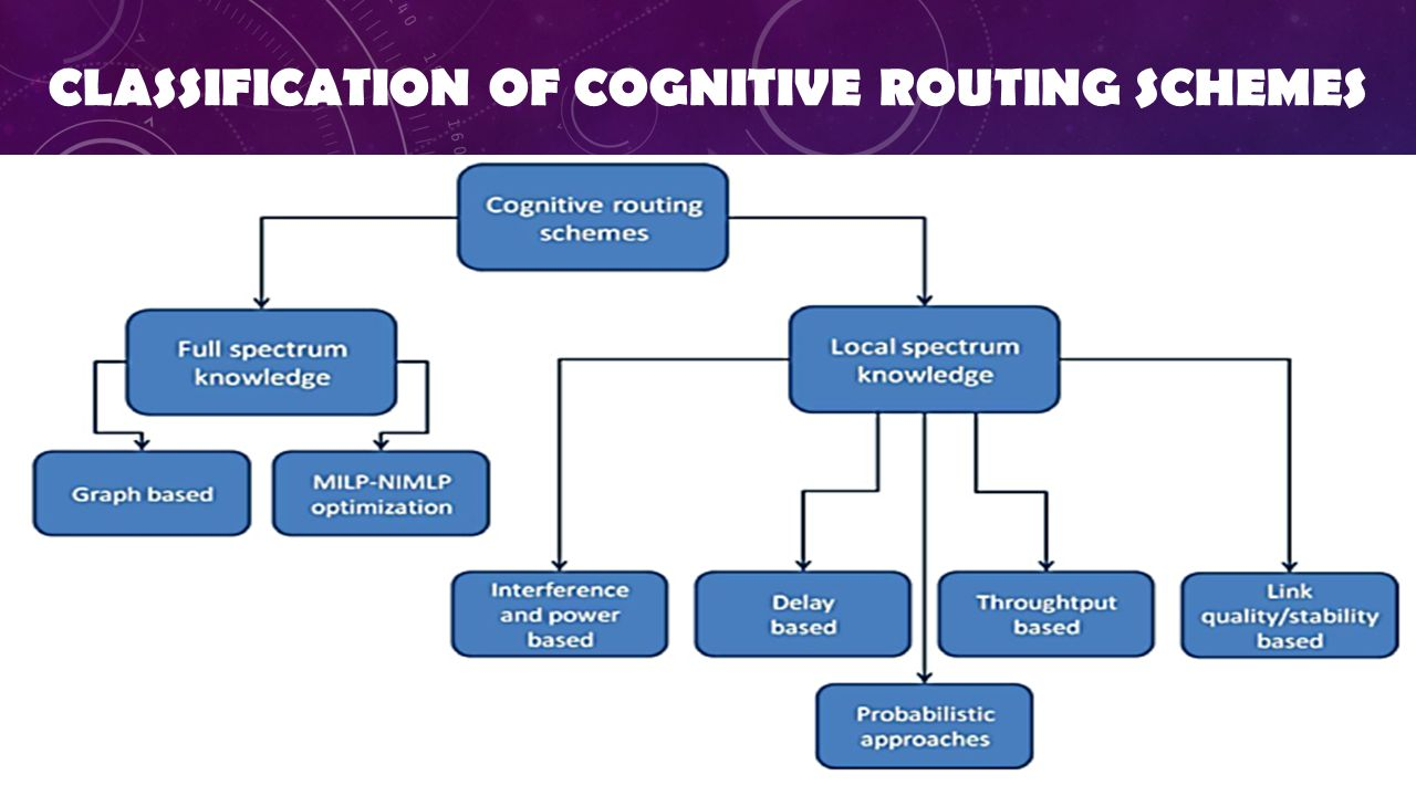 CLASSIFICATION OF COGNITIVE ROUTING SCHEMES