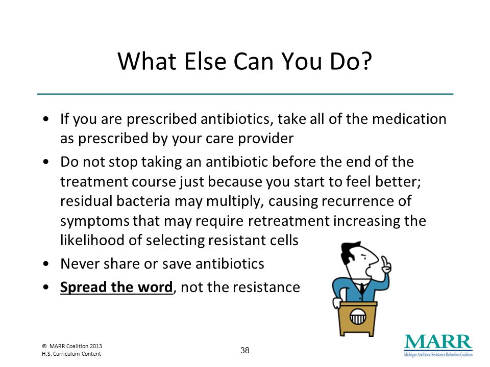 © MARR Coalition 2013 H.S. Curriculum Content Preventing Bacterial Infection is the Best Medicine.