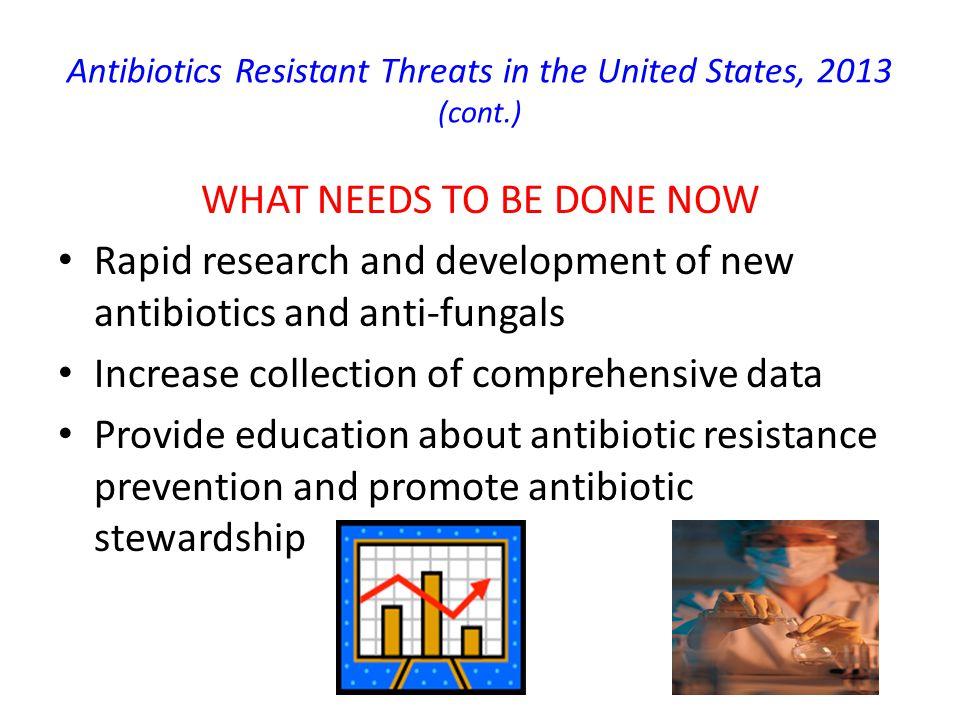 Antibiotics Resistant Threats in the United States, 2013 (cont.) 5.