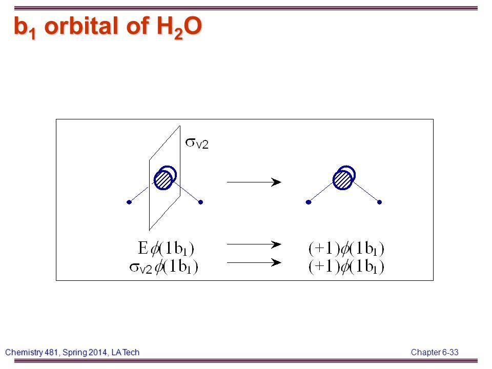 Chapter 6-33 Chemistry 481, Spring 2014, LA Tech b 1 orbital of H 2 O