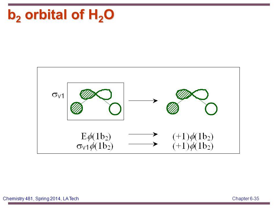 Chapter 6-35 Chemistry 481, Spring 2014, LA Tech b 2 orbital of H 2 O