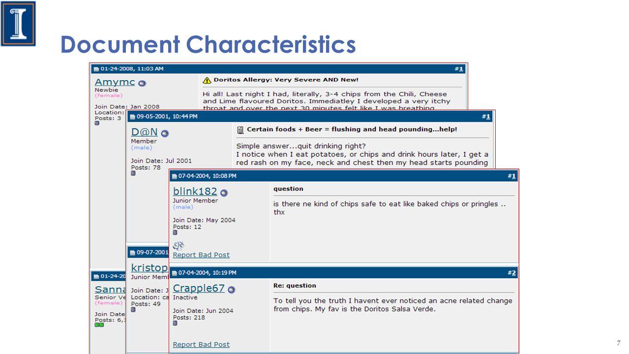 Document Characteristics 7