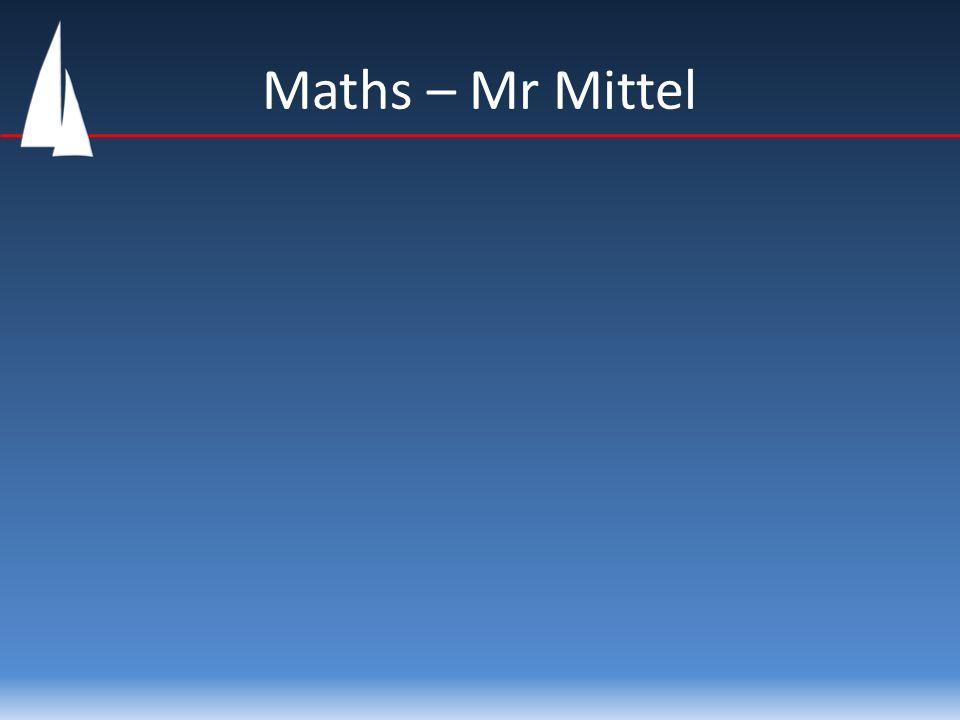 Maths – Mr Mittel