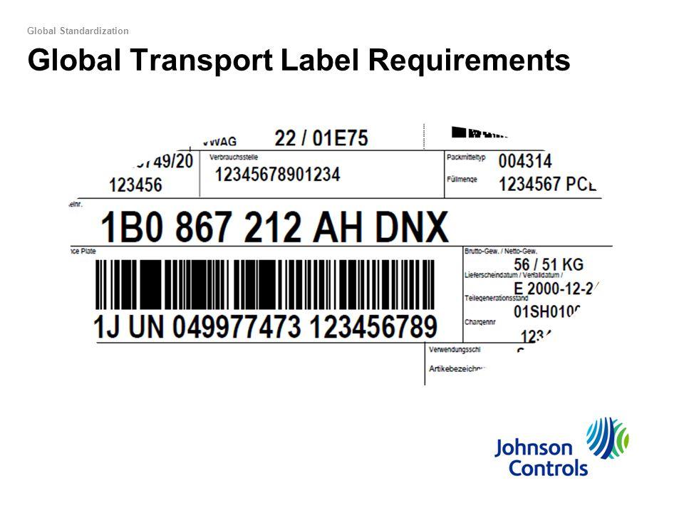 Global Transport Label Requirements Global Standardization