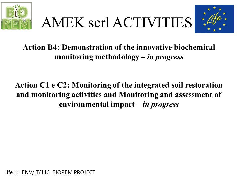 Life 11 ENV/IT/113 BIOREM PROJECT Courgette development monitoring