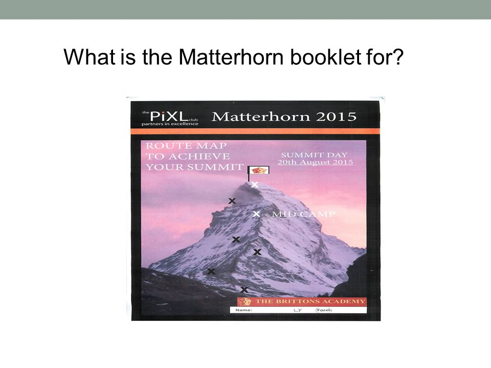 What is the Matterhorn booklet for .