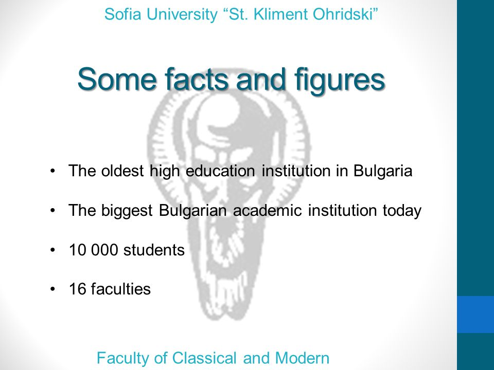 The Faculty of Classical and Modern Philologies Sofia University St.