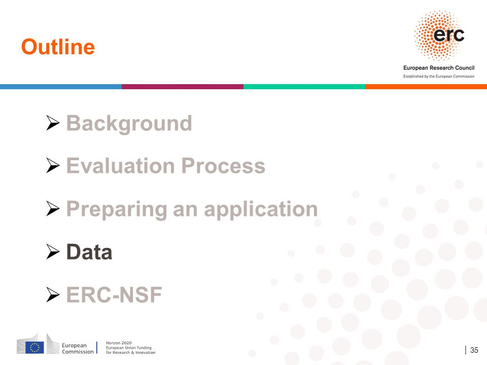 Outline │ 35  Background  Evaluation Process  Preparing an application  Data  ERC-NSF
