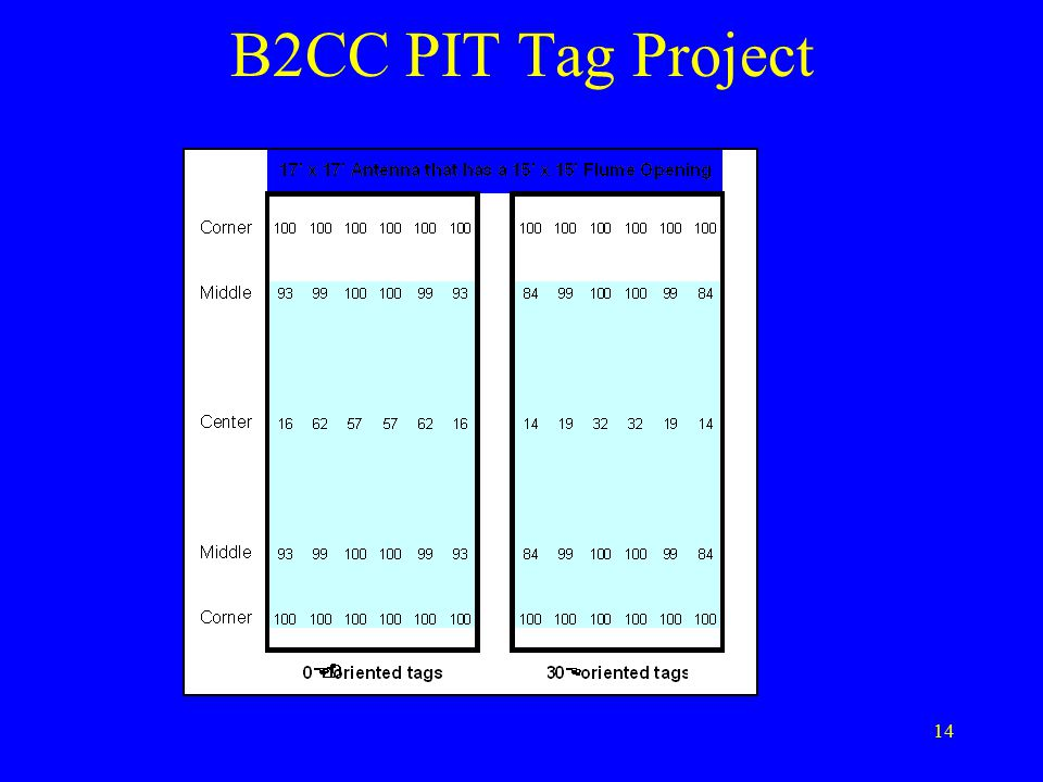 14 B2CC PIT Tag Project