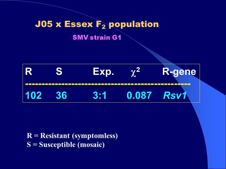 J05 x Essex F 2 population SMV strain G1 R SExp.