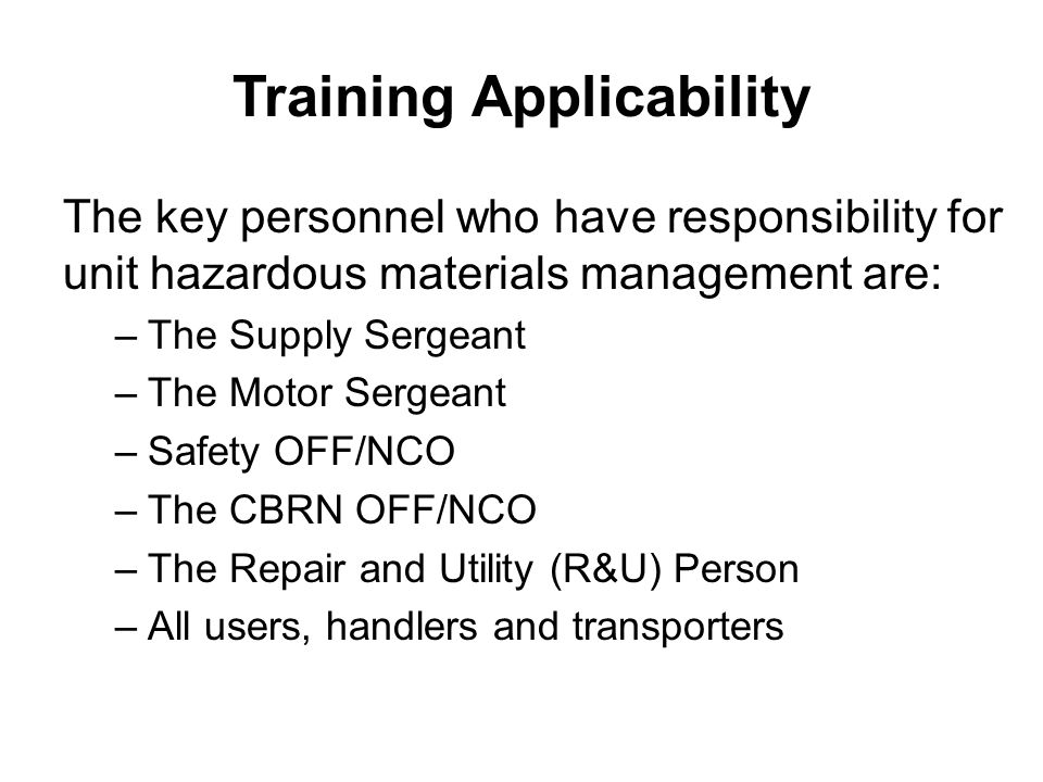Storage Compatibility If you don't know what category your HAZMAT falls under, look at the MSDS for the Hazardous Characteristic Code (HCC).