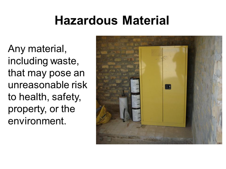 Primary & Secondary Storage Segregation 63 Hazardous Characteristic Codes Some items in a primary segregation area should be separated by at least 4 feet into secondary segregation