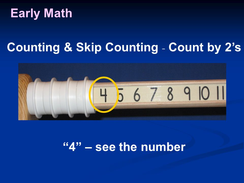 Early Math 4 – see the number Counting & Skip Counting - Count by 2's