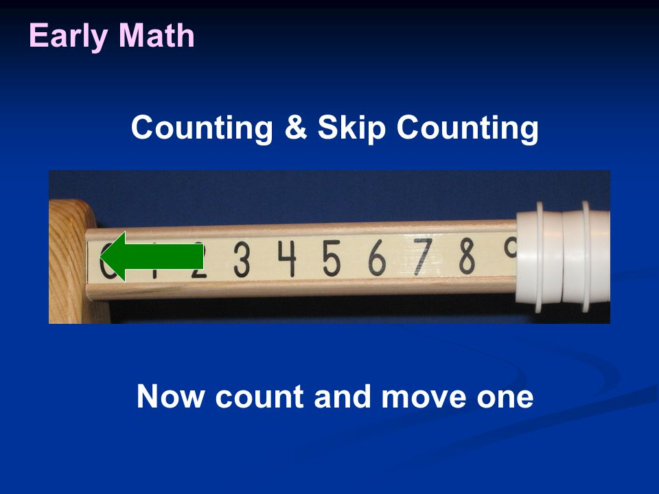 Early Math Now count and move one Counting & Skip Counting