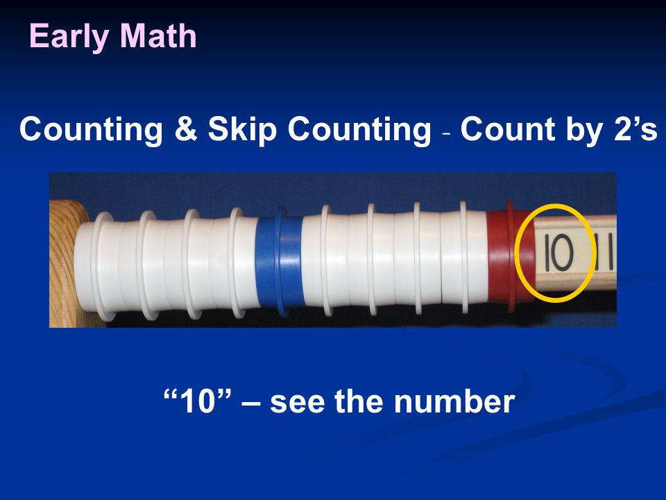 Early Math 10 – see the number Counting & Skip Counting - Count by 2's