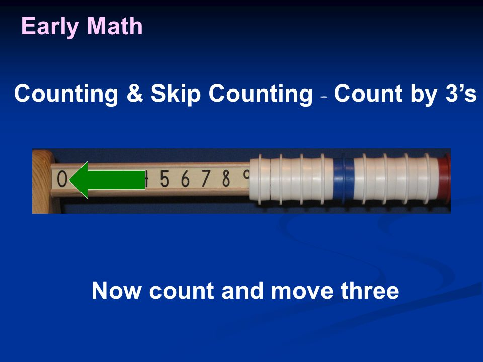 Early Math Now count and move three Counting & Skip Counting - Count by 3's