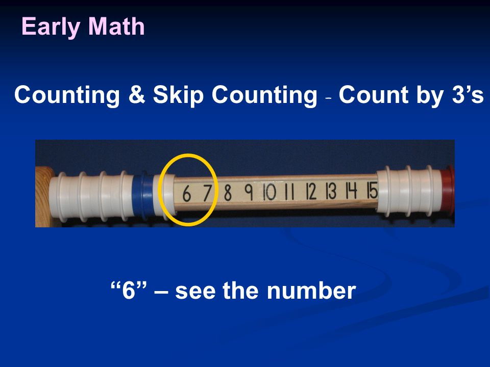 Early Math 6 – see the number Counting & Skip Counting - Count by 3's