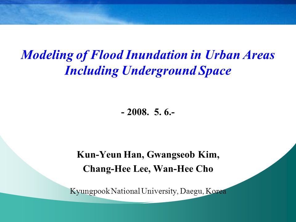 Modeling of Flood Inundation in Urban Areas Including Underground Space - 2008.