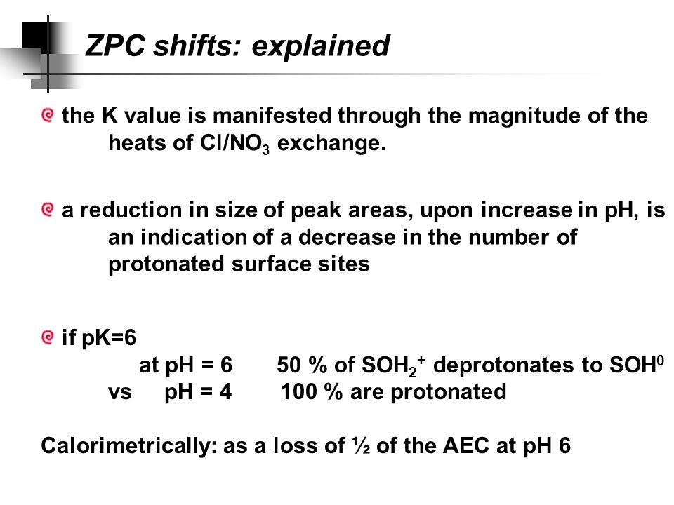 ZPC shifts: explained Table 8.