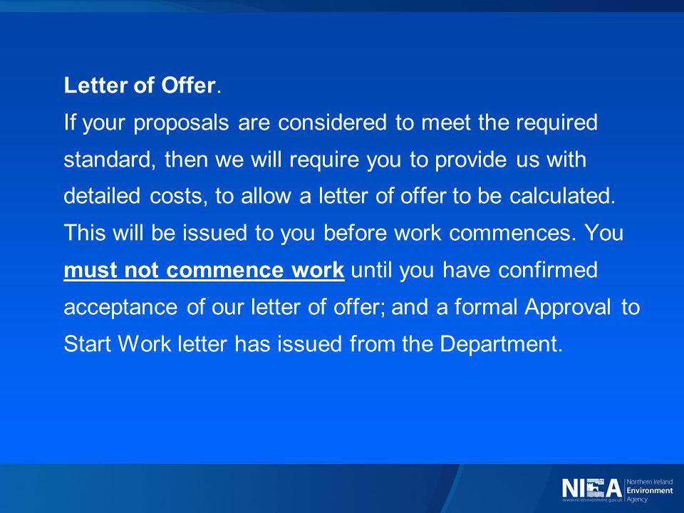 Letter of Offer.