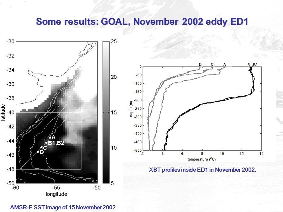 AMSR-E SST image of 15 November 2002.
