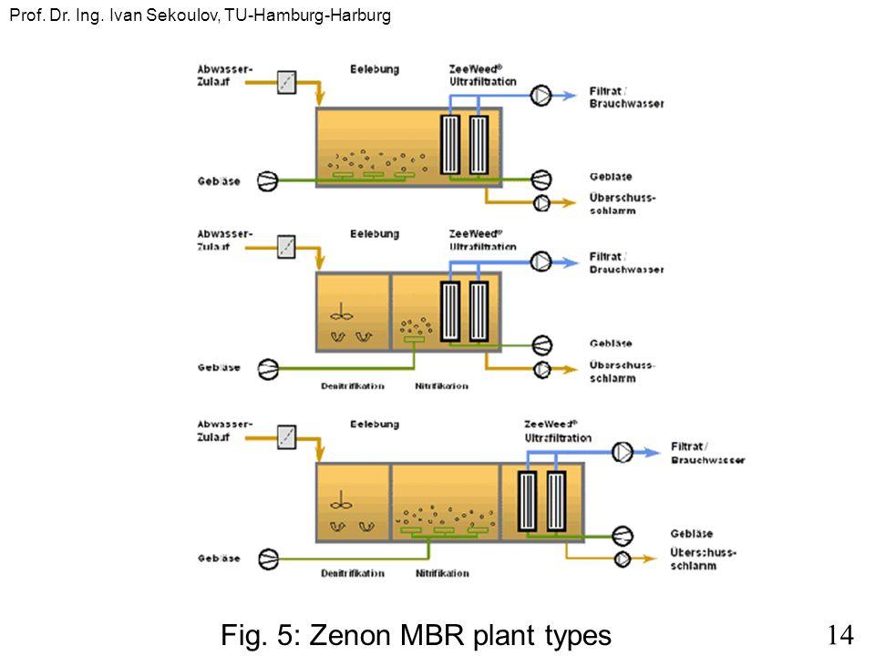 14 Prof. Dr. Ing. Ivan Sekoulov, TU-Hamburg-Harburg Fig. 5: Zenon MBR plant types
