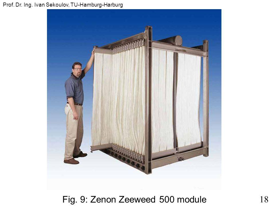 18 Prof. Dr. Ing. Ivan Sekoulov, TU-Hamburg-Harburg Fig. 9: Zenon Zeeweed 500 module
